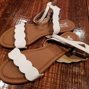 White Brash sandals